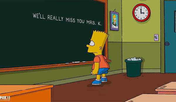 """The Simpsons"" pays tribute to Marcia Wallace."
