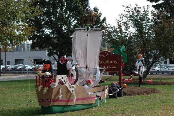Bennet Academy students took the People's Choice award in the annual Scarecrow Contest.