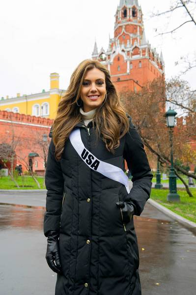 Miss USA Erin Brady is in Moscow, ready to compete in the Miss Universe pageant Nov. 9