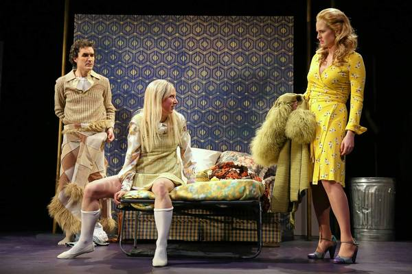 "Tommy Schrider, Sarah Manton and Brenda Meaney in a scene from ""Owners"" at Yale Repertory Theatre."