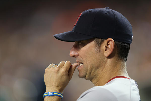 Red Sox bench coach Torey Lovullo hasn't yet interviewed with the Cubs.
