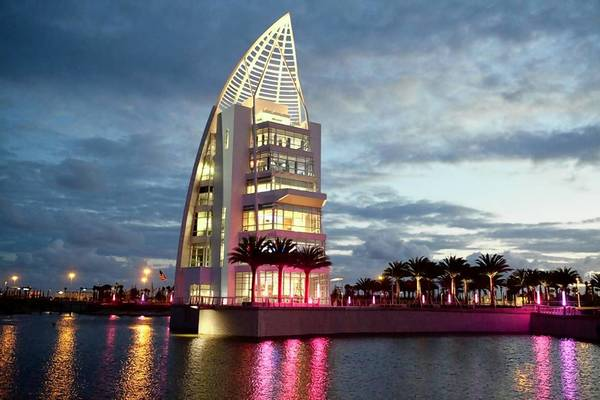 The new Exploration Tower at Port Canaveral opened to the public Monday.