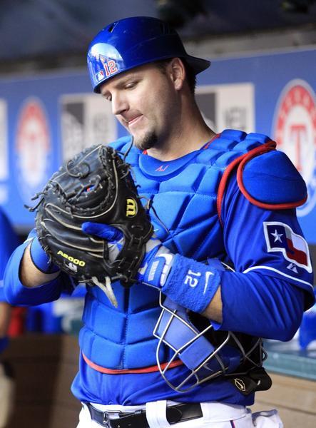 Texas Rangers catcher A.J. Pierzynski.