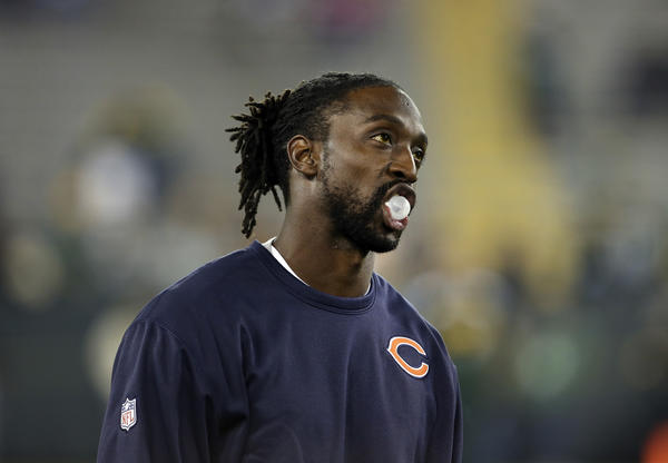 Chicago Bears cornerback Charles Tillman before the start of Monday's game against the Green Bay Packers at Lambeau Field/
