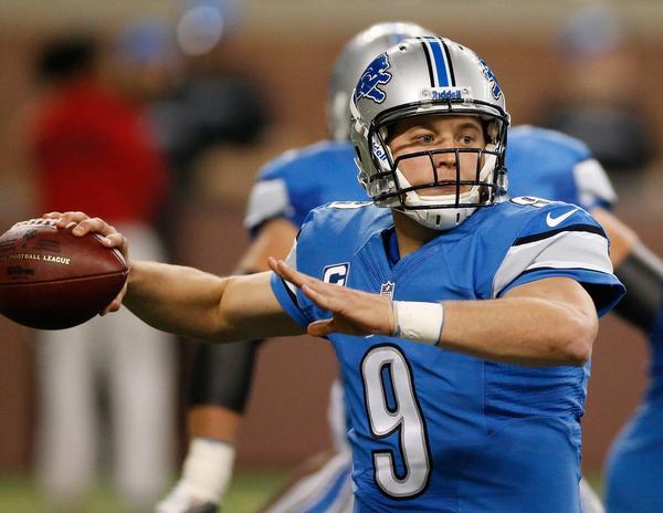 Lions quarterback Matthew Stafford.