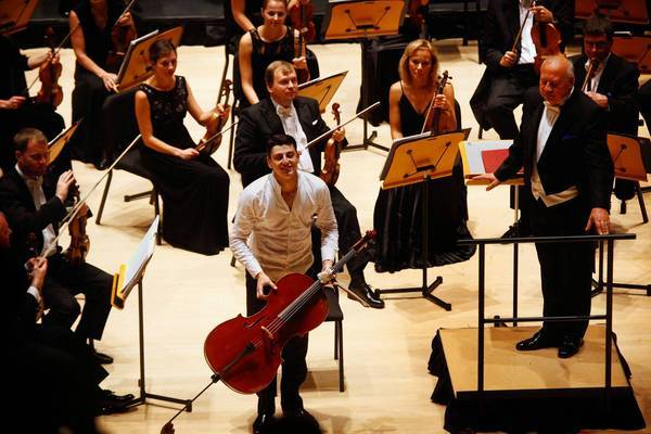 Cellist Narek Hakhnazaryan performed the Dvorak Cello Concerto led by Estonian Symphony conductor Neeme Jarvi at the Soka center in Aliso Viejo.