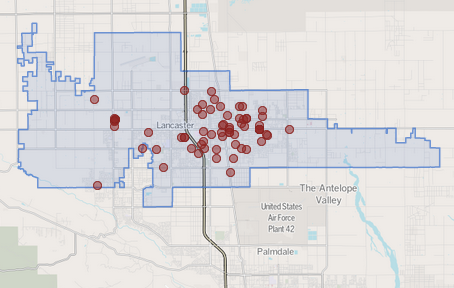 Map shows homicides reported in Lancaster. Leo Jerome Johnson, 28, was charged in connection with a double slaying in the city.