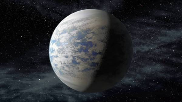 An artist's rendition shows Kepler-69c, an Earth-size planet in the so-called habitable zone of a star like the sun in the constellation Cygnus.