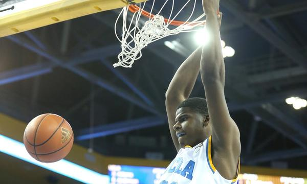 UCLA's Tony Parker dunks during a game against Prairie View A&M last season. Parker finished with 17 points and 16 rebounds in the Bruins' preseason win Monday over Cal State San Marcos.