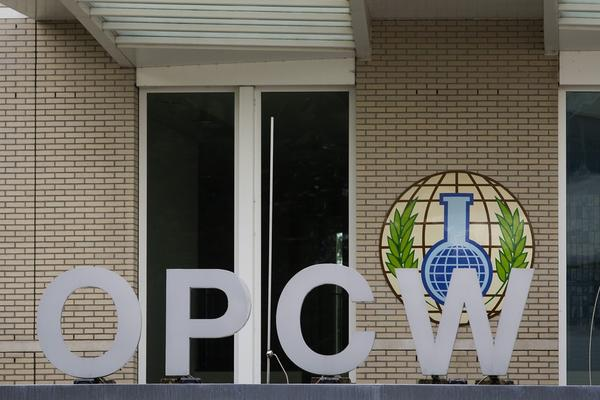 This picture taken on August 31, 2013 shows the building of the Organization for the Prohibition of Chemical Weapon, in the Hague.