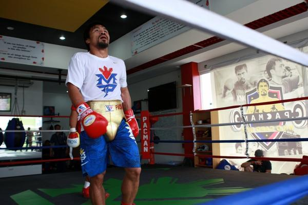 Manny Pacquiao, above, faces tough knockout artist Brandon Rios in his next bout.