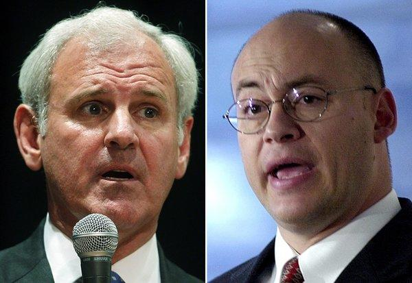 Republicans Bradley Byrne, left, Dean Young, are facing off in a primary runoff election for Alabama's 1st Congressional District.