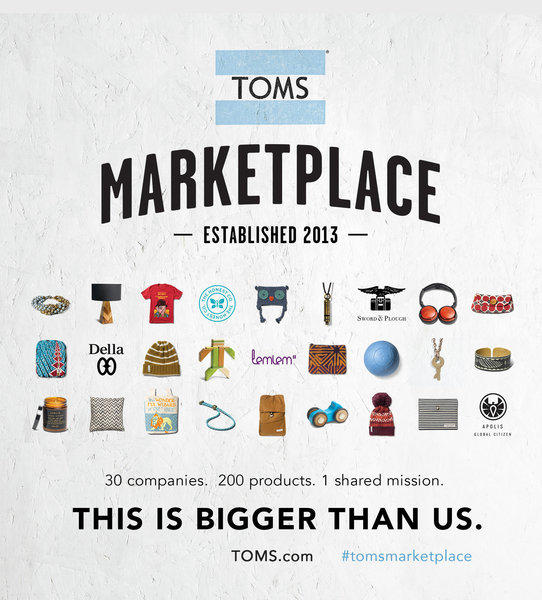 Los Angeles company Toms launches a socially conscious e-commerce marketplace.