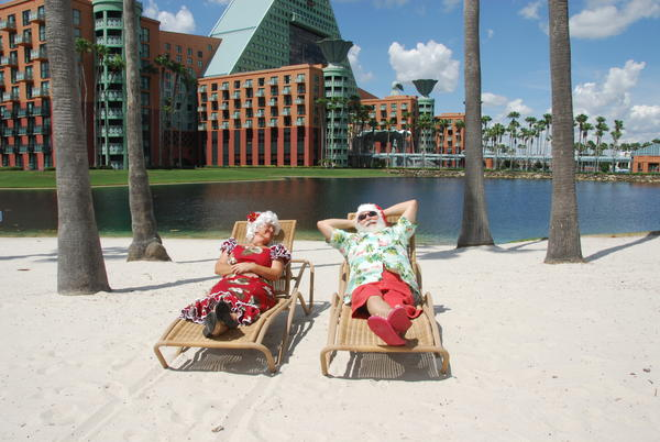 As always, the Walt Disney World Swan and Dolphin Hotel will feature Santa and Mrs. Claus in Florida attire.