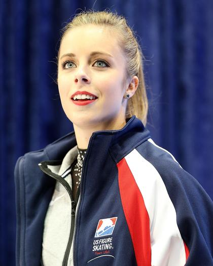 Ashley Wagner after the short program at Skate America in Detroit last month.  (Dave Reginek / Getty Images)