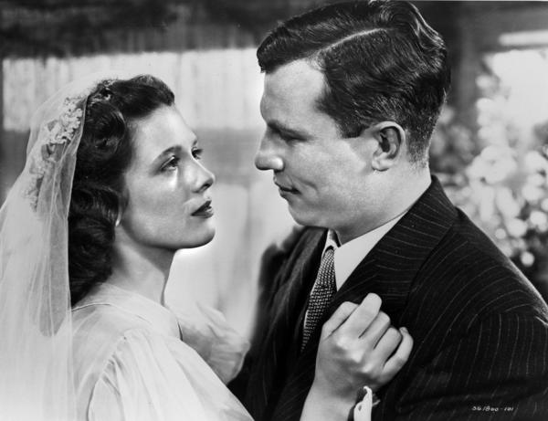 "Teresa Wright and Harold Russell in a scene from Oscar-winning classic ""The Best Years of Our Lives,"" now out on Blu-ray."