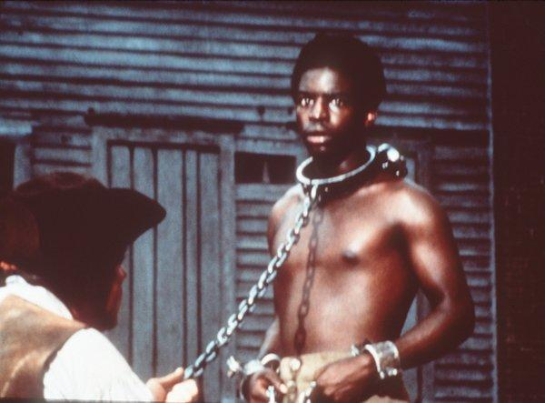 "Le Var Burton as Kunta Kinte in the television movie series ""Roots."""