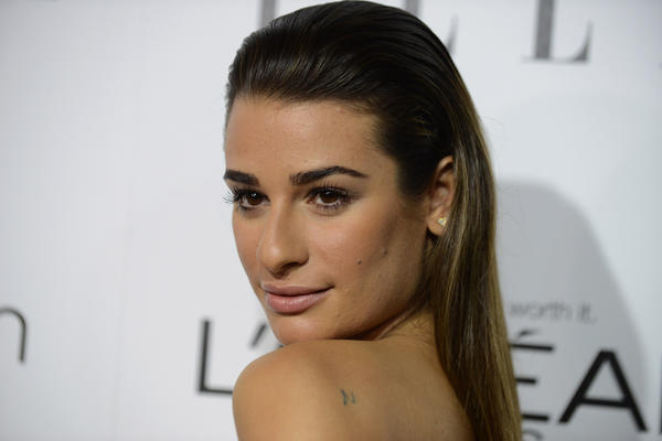 "Actress Lea Michele arrives at the ELLE 20th annual ""Women in Hollywood"" event at the Four Seasons Hotel on Monday, Oct. 21, 2013 in Los Angeles."