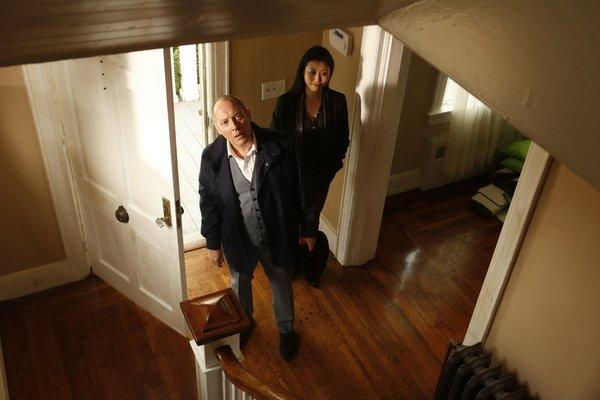 "James Spader and Deborah S. Craig as Luli in NBC's drama ""The Blacklist."""