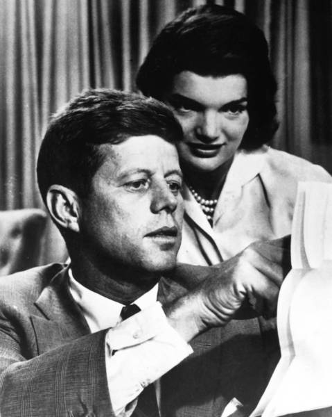 President John F. Kennedy and his wife, Jacqueline Kennedy, in the 1950s.