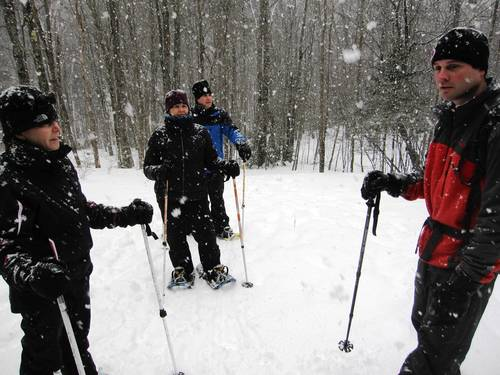Snowshoeing is an option for non-skiers at Stowe Mountain resort