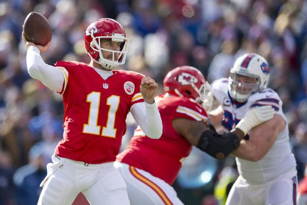 Quarterback Alex Smith and the Chiefs hold on to the top ranking.