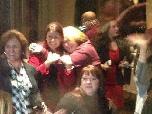 New Britain Mayor-elect Erin Stewart celebrates with supporters Tuesday night.
