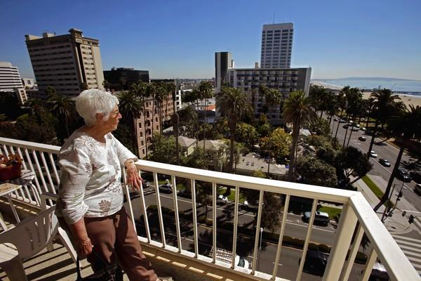 Eleanor Blumenberg lives across the street from the Fairmont Miramar Hotel, where a major expansion is planned. She and other nearby residents oppose the project, especially the height of its proposed towers.