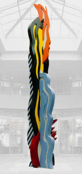 "Roy Lichtenstein's sculpture ""Coups de Pinceau"" (1988)."