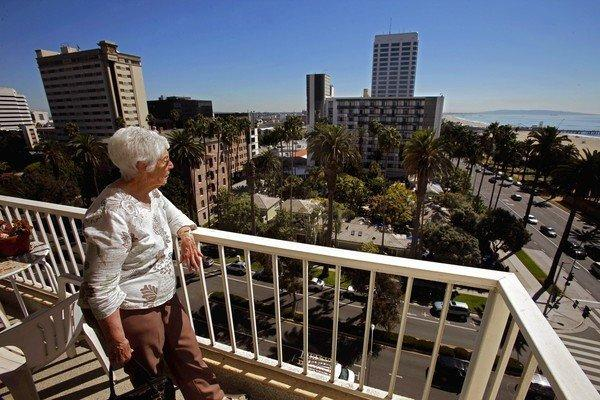 Eleanor Blumenberg lives across the street from the Fairmont Miramar Hotel, where a major expansion is planned. She and other nearby residents oppose the project, especially because of the height of its proposed towers.