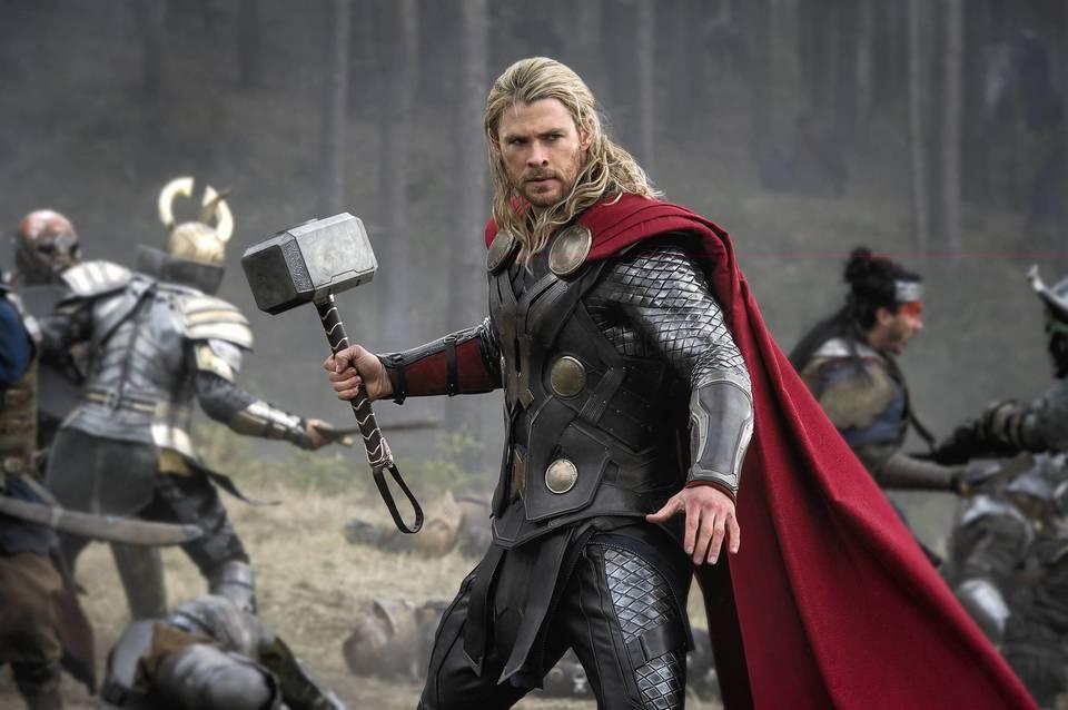 "Chris Hemsworth stars in ""Thor: The Dark World."""