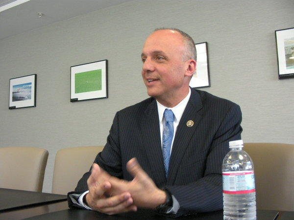 U.S. Rep. Ted Deutch at the Sun Sentinel editorial board. Photo by Anthony Man
