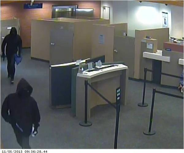 Two masked men carrying guns robbed Citibank at 414 N. Central Ave., Glendale on Tuesday, Nov. 5, 2013.