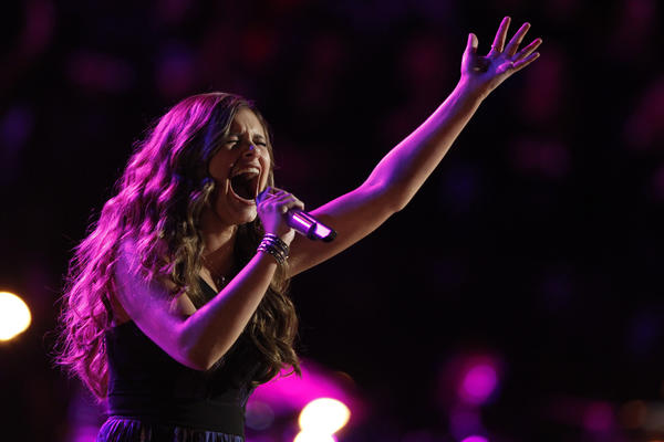 """The Voice"" contestant Jacquie Lee performs."