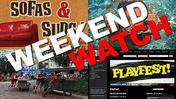Weekend Watch: Sofas & Suds, Playfest, Festival of the Masters
