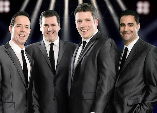 Members of Let's Hang On!, a Frankie Valli and the Four Seasons tribute group.