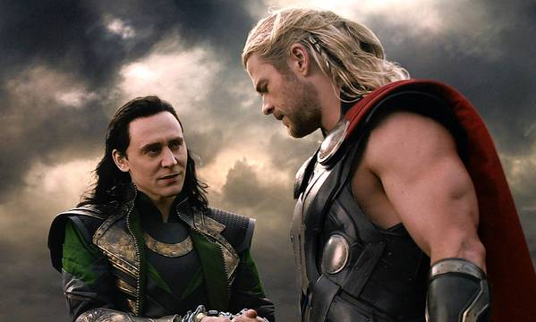 "Tom Hiddleston, left, and Chris Hemsworth star in ""Thor: The Dark World."""
