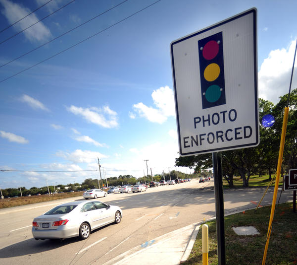 Boca Raton has installed a red light camera on Military Trail at the intersection of Spanish River Blvd.