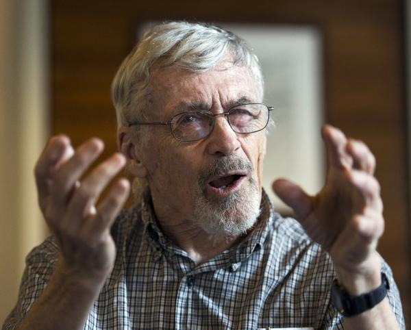 Retired physician David Hilfiker talks about his life with Alzheimer's at the National Press Club in Washington, D.C. Researchers say speaking two languages is associated with later onset of dementia.