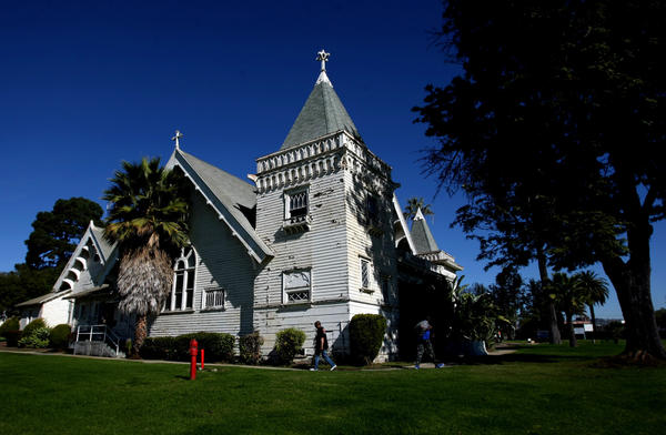 The Victorian-era chapel on the West Los Angeles Veterans Affairs campus is listed on the National Register of Historic Places.