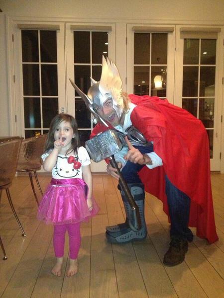 Blackhawks defenseman Michael Kostka is a dead ringer for Thor. He even dresses as him for Halloween.