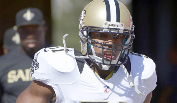 New Orleans linebacker Jonathan Vilma was put on injured reserve after appearing in his first game for the Saints on Sunday.