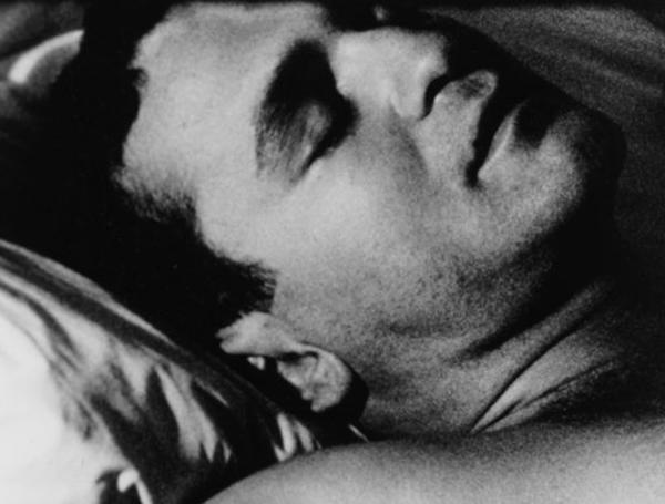 "Still from the 5-hour, 1963 Andy Warhol movie, ""Sleep."""