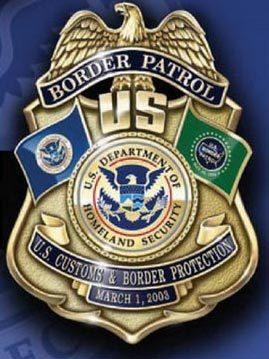 A depiction of the badge of the U.S. Border Patrol.