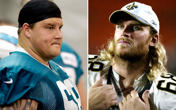 Former NFL offensive lineman Kyle Turley, right, said he was asked to help toughen young lineman as Dolphins veteran Richie Incognito was reportedly told to do in the situation involving Jonathan Martin.