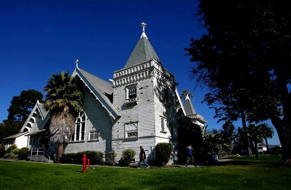 In 2012, the VA determined that this Victorian-era chapel on the West Los Angeles VA campus should be mothballed.