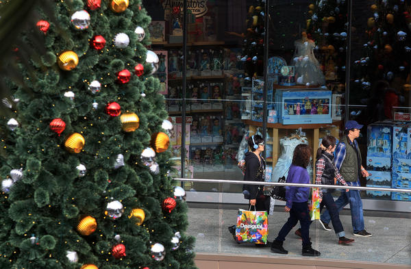 October same store sales beat expectations, raising hopes for the Christmas shopping season.