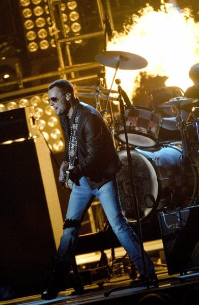 Eric Church performs during the 47th annual CMA Awards at the Bridgestone Arena in Nashville.