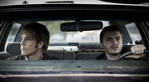 "Stephen Dorff and Emile Hirsch in ""The Motel Life."""