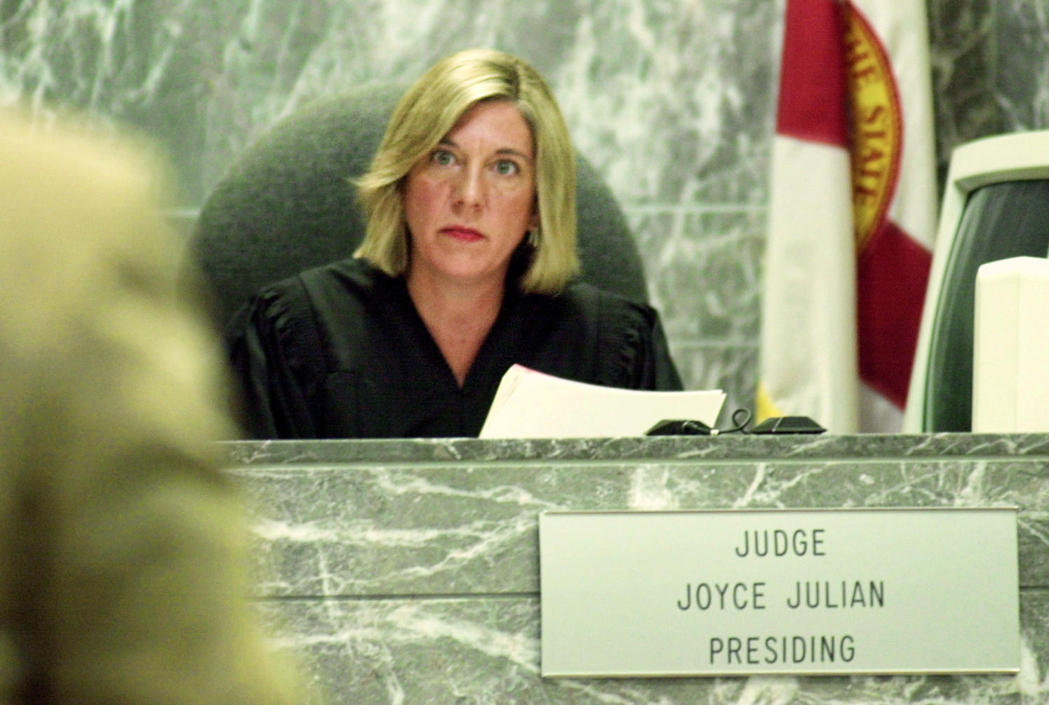 """Former Broward Circuit Judge Joyce Jullian was arrested in 2001 on suspicion of disorderly conduct at an Amelia Island judicial conference. In 2002, in documents filed in response to a state Judicial Qualifications Commission complaint, she acknowledged she was """"extremely intoxicated"""" during the incident. Prosecutors dropped Julian's misdemeanor charges because she checked herself into an alcohol rehabilitation program."""